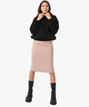 Jupe femme longue en maille côtelée vue5 - GEMO(FEMME PAP) - GEMO
