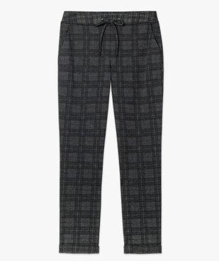 Pantalon femme en maille extensible imprimé vue4 - GEMO(FEMME PAP) - GEMO
