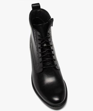 Boots femme à talon plat style derbies à lacets et zip vue5 - GEMO (CASUAL) - GEMO