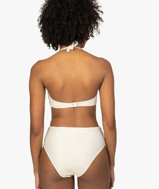 Haut de maillot de bain femme à paillettes forme bandeau  vue2 - GEMO (PLAGE) - GEMO