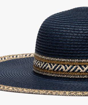 Chapeau femme forme capeline en paille bicolore et fil lurex vue2 - GEMO (ACCESS) - GEMO