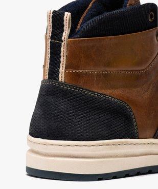 Baskets homme semi-montantes dessus cuir vue6 - GEMO (CASUAL) - GEMO