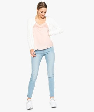 Jean femme slim taille normale stretch vue5 - GEMO (JEAN) - GEMO