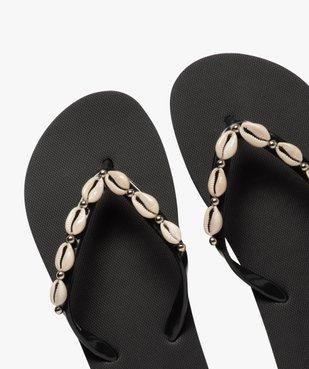 Tongs femme à fines brides ornées de coquillages vue3 - Nikesneakers (PLAGE) - Nikesneakers