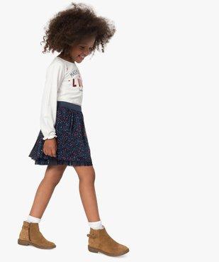 Tee-shirt fille avec motif et sequins brodés – Lulu Castagnette vue6 - LULUCASTAGNETTE - Nikesneakers