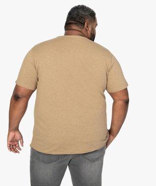 Tee-shirt homme à manches courtes et col roulotté vue3 - GEMO (HOMME) - GEMO