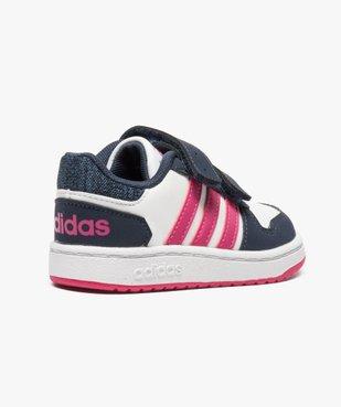 Basket basse tricolore à scratchs - Adidas Hoops 2.0 CMF vue4 - ADIDAS - GEMO