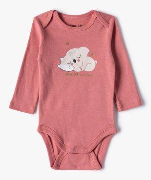Body bébé fille manches longues motifs koala (lot de 3) vue3 - GEMO C4G BEBE - GEMO