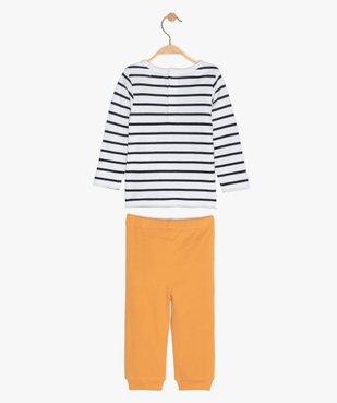 Pyjama garçon en jersey façon mix&match vue3 - GEMO C4G BEBE - GEMO