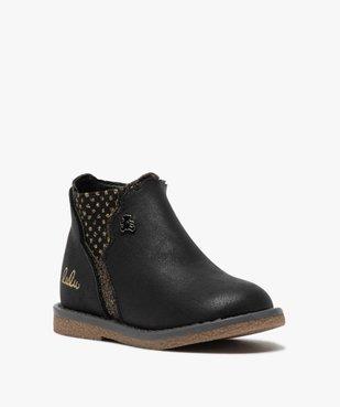 Boots bébé fille zippées à détails pailletés – Lulu Castagnette vue2 - LULU CASTAGNETT - GEMO