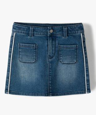 Jupe fille en jean avec liserés pailletés – Lulu Castagnette vue1 - LULUCASTAGNETTE - GEMO