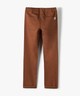 Pantalon garçon en toile extensible avec taille élastiquée vue3 - Nikesneakers (ENFANT) - Nikesneakers