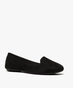Ballerines femme style slippers unies avec strass vue2 - GEMO(URBAIN) - GEMO