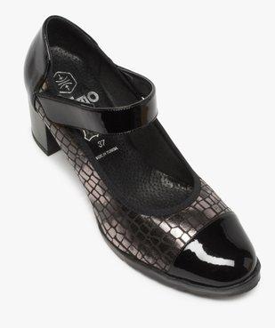 Escarpins femme confort à bride scratch et détails vernis vue5 - Nikesneakers(URBAIN) - Nikesneakers