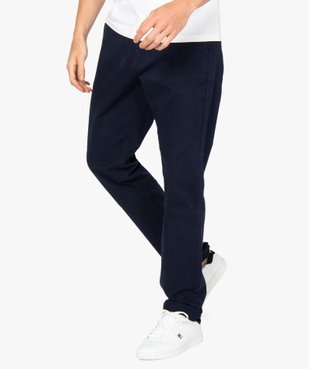 Pantalon homme chino stretch en maille piquée vue1 - GEMO (HOMME) - GEMO