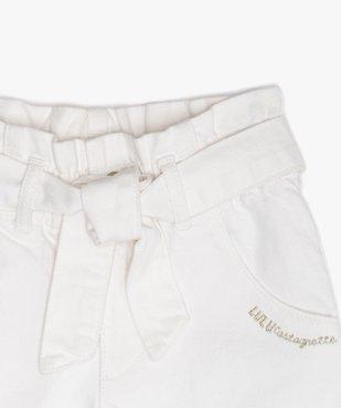 Pantalon fille coupe large avec ceinture – Lulu Castagnette vue2 - LULUCASTAGNETTE - GEMO