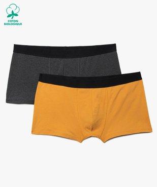 Boxer homme uni en coton biologique (lot de 2) - Grande Taille vue1 - Nikesneakers C4G HOMME - Nikesneakers