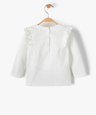 Tee-shirt bébé fille avec motifs pailleté – Lulu Castagnette vue4 - LULUCASTAGNETTE - GEMO