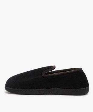 Chaussons homme pantoufles en velours - Isotoner Dessus velours ras vue3 - ISOTONER - Nikesneakers