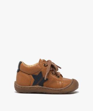 Chaussures premiers pas à lacets bébé garçon - Bopy vue1 - BOPY - GEMO