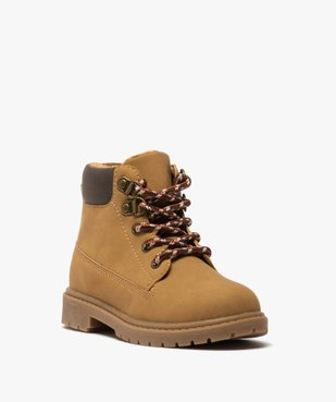 Boots garçon à col rembourré et semelle crantée vue3 - GEMO (ENFANT) - GEMO