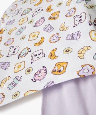 Pyjama fille en jersey imprimé fantaisie vue2 - GEMO (ENFANT) - GEMO