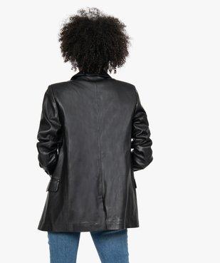 Veste femme coupe blazer en matière synthétique vue3 - GEMO(FEMME PAP) - GEMO