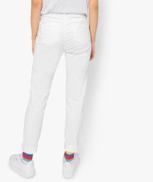 Pantalon femme en toile coupe slim 5 poches vue3 - GEMO (JEAN) - GEMO