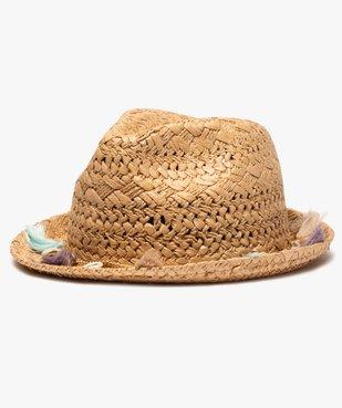 Chapeau femme en paille avec pompons et coquillages vue1 - GEMO (ACCESS) - GEMO