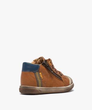 Chaussures premiers pas bébé garçon à lacets et zip - Bopy vue4 - BOPY - GEMO