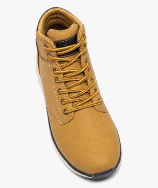 Boots garçon à col rembourré et lacets bicolores vue5 - Nikesneakers (ENFANT) - Nikesneakers
