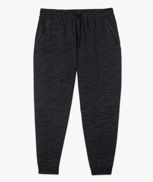 Pantalon homme en maille chinée à poches zippées vue4 - GEMO (G TAILLE) - GEMO