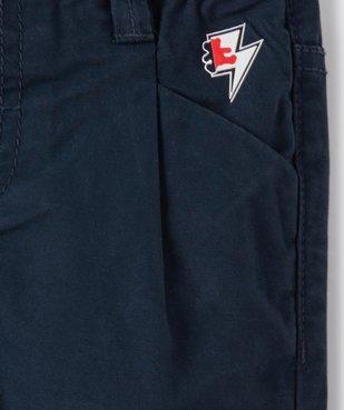 Pantalon bébé garçon en toile à pinces – Lulu Castagnette vue2 - LULUCASTAGNETTE - GEMO