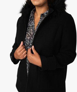 Manteau femme court à capuche fantaisie vue2 - GEMO (G TAILLE) - GEMO