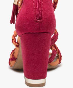 Sandales femme talon haut - Gémo x Lalaa Misaki vue5 - GEMO(URBAIN) - GEMO