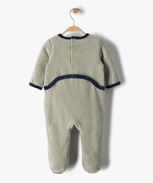 Pyjama bébé garçon en velours avec motif tracteur vue4 - GEMO(BB COUCHE) - GEMO