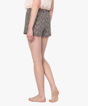Bas de pyjama femme forme short imprimé vue3 - GEMO(HOMWR FEM) - GEMO
