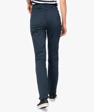 Pantalon femme coupe Regular en stretch vue3 - GEMO(FEMME PAP) - GEMO
