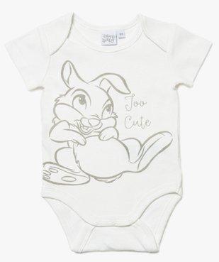 Body bébé mixte à manches courtes avec motifs animaux – Disney Baby vue1 - DISNEY DTR - GEMO