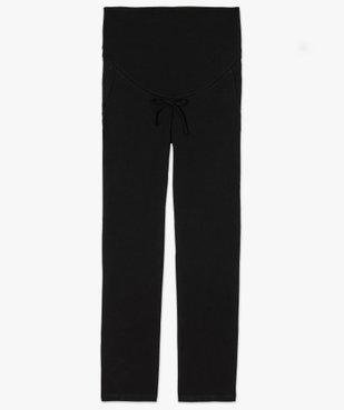 Pantalon de grossesse droit en jersey avec lien à la taille vue4 - GEMO C4G MATERN - GEMO