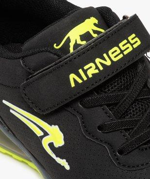 Baskets garçon à lacets élastiques et scratch - Airness vue6 - AIRNESS - GEMO