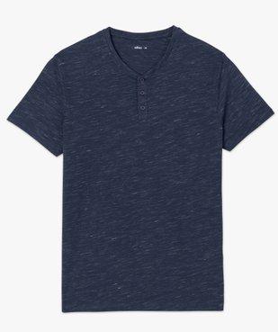 Tee-shirt homme col tunisien 100% coton biologique vue4 - GEMO C4G HOMME - GEMO