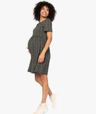 Robe de grossesse et d'allaitement en maille imprimée vue1 - GEMO (MATER) - GEMO