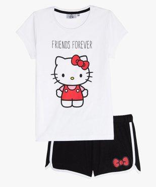 Pyjashort fille imprimé - Hello Kitty vue1 - HELLO KITTY - GEMO