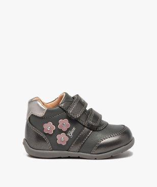 Chaussures bébé fille à scratch décor fleurs - Geox vue1 - GEOX - Nikesneakers