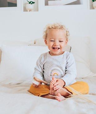 Pyjama bébé fille 2 pièces en velours à imprimé pailleté vue3 - GEMO(BB COUCHE) - GEMO