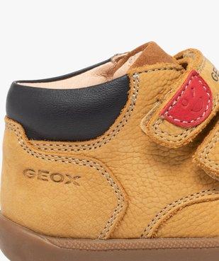 Chaussures premiers pas bébé en cuir - Geox vue6 - GEOX - GEMO