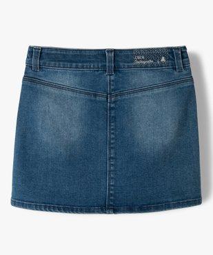 Jupe fille en jean avec liserés pailletés – Lulu Castagnette vue3 - LULUCASTAGNETTE - GEMO