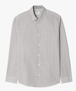 Chemise homme à motifs coupe slim vue4 - GEMO (HOMME) - GEMO