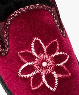 Pantoufles femme à talon dessus en velours brodé vue6 - Nikesneakers(HOMWR FEM) - Nikesneakers